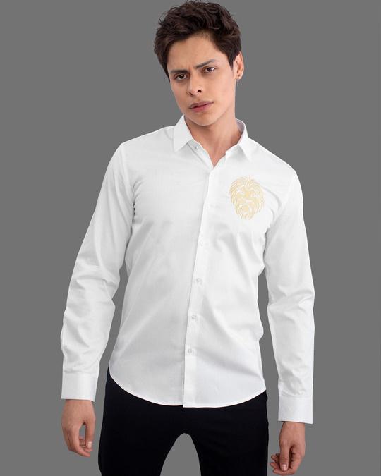 Shop Masai Lion White Full Sleeves Shirt-Design