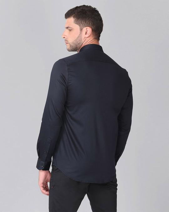 Shop Navy Yoke Beaded Shirt-Design