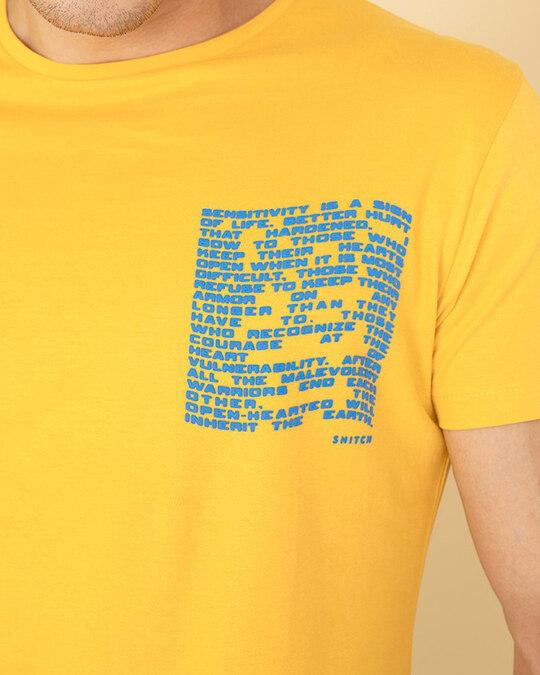 Shop Pocket Yellow Graphic T Shirt
