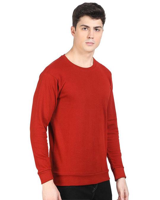 Shop Red Popcorn Full Sleeve Cotton T Shirt-Design
