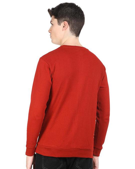 Shop Red Popcorn Full Sleeve Cotton T Shirt-Full