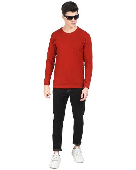 Shop Red Popcorn Full Sleeve Cotton T Shirt