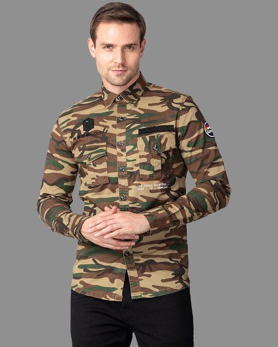 Shop Rookie Camo Cargo Shirt-Full