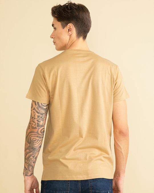 Shop Split Leaf Sand Brown Graphic T Shirt-Design