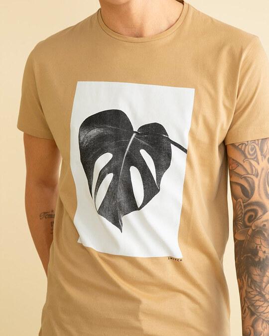 Shop Split Leaf Sand Brown Graphic T Shirt-Full