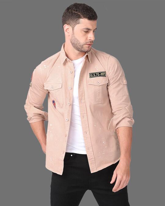 Shop Suave Peach Cargo Shirt-Front