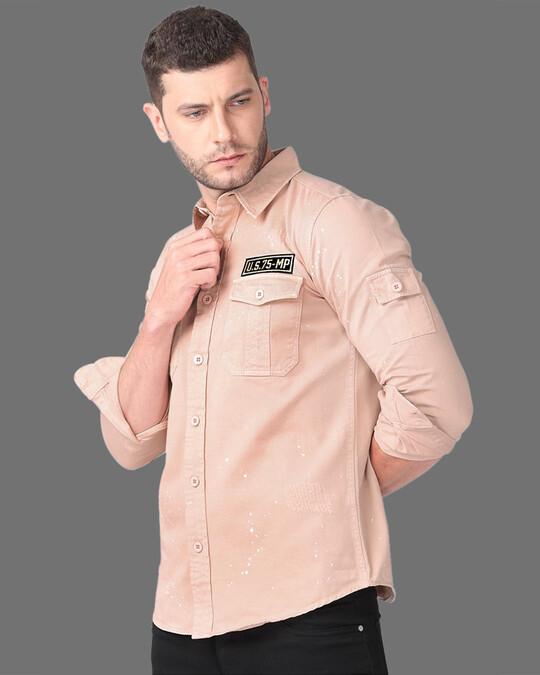 Shop Suave Peach Cargo Shirt-Full