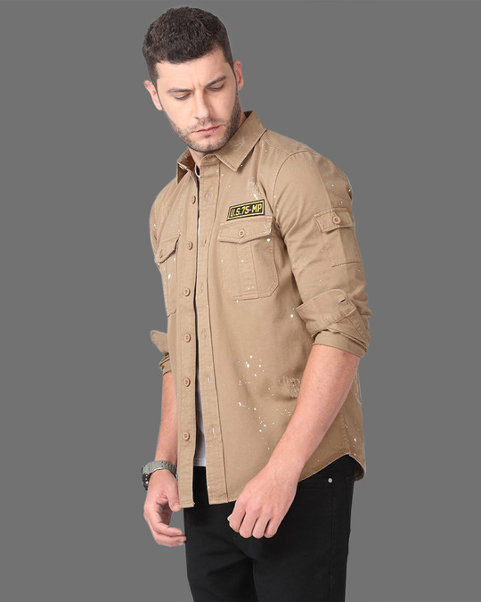 Shop Suave Sand Brown Shirt-Design