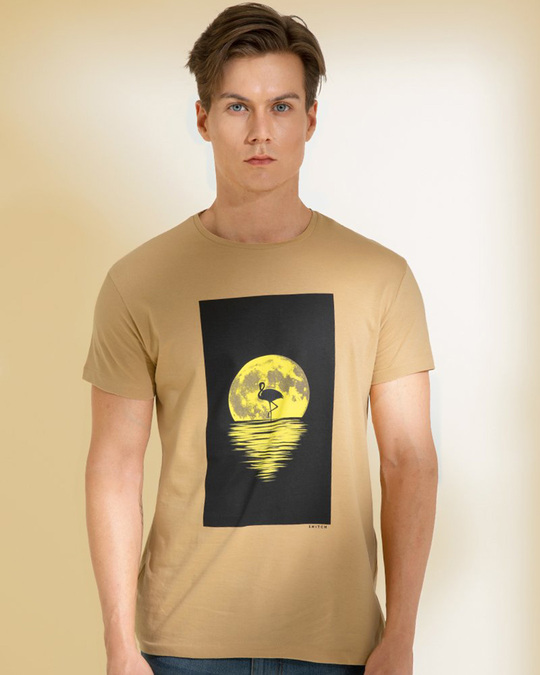 Shop Sunset Sand Brown Graphic T Shirt-Front