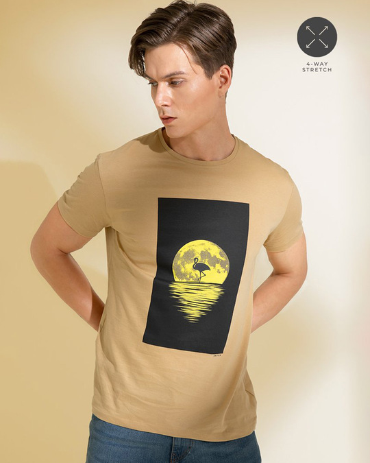 Shop Sunset Sand Brown Graphic T Shirt-Full