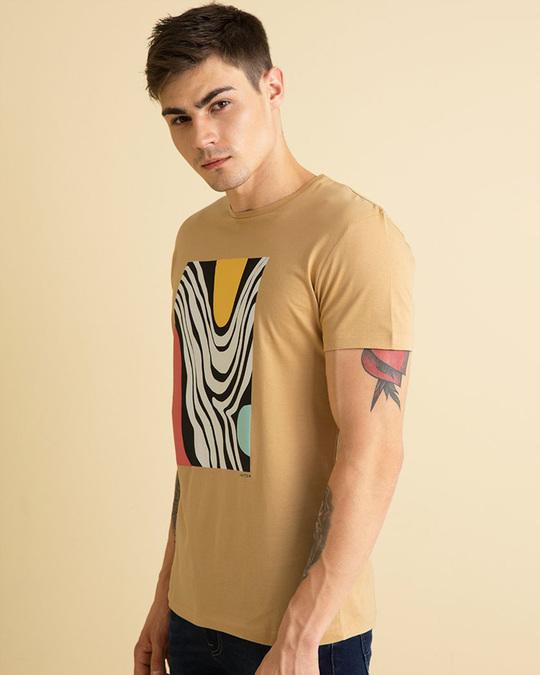 Shop Terrain Sand Brown Graphic T Shirt-Back
