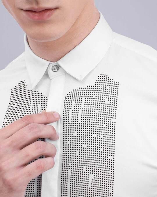 Shop White Beaded Designer Shirt