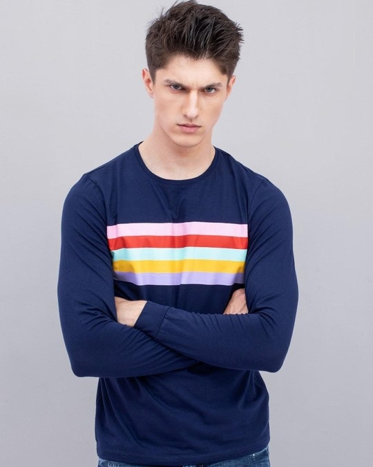 Shop Wubrg Navy T Shirt