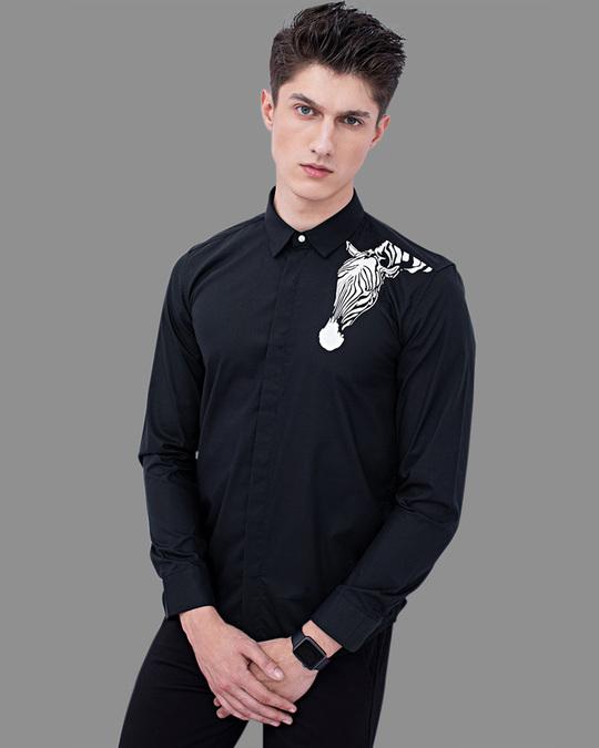 Shop Zebra Navy Printed Shirt-Full