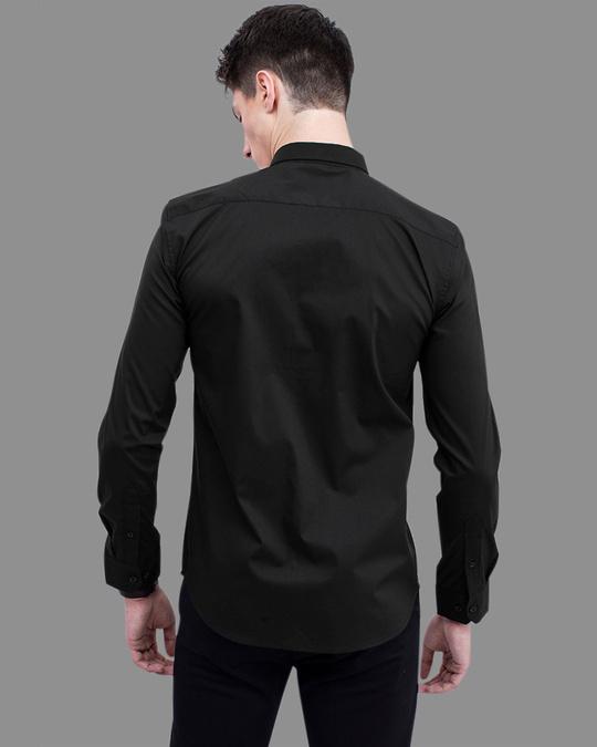 Shop Zebra Black Printed Shirt-Back