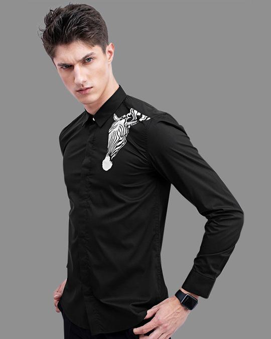 Shop Zebra Black Printed Shirt-Full