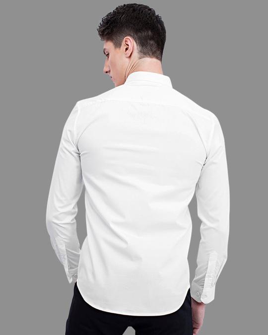 Shop Zebra White Printed Shirt-Back