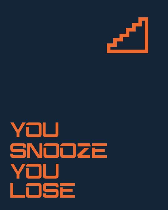 Shop Snooze Lose Full Sleeve T-Shirt Navy Blue-Full