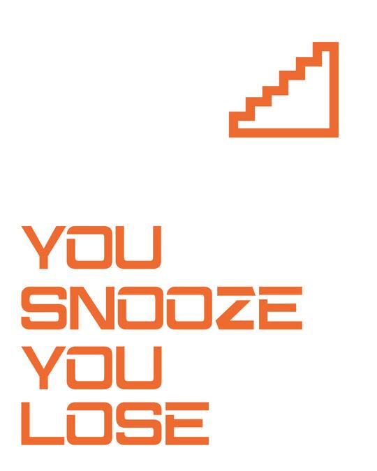 Shop Snooze Lose Full Sleeve T-Shirt White -Full