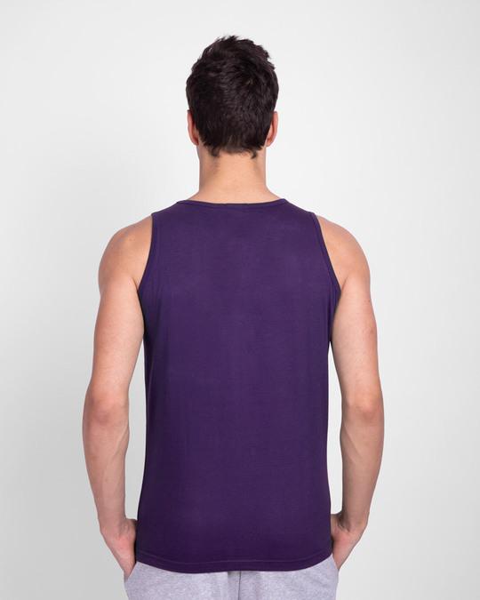 Shop Snooze Lose Round Neck Vest Parachute Purple  -Back
