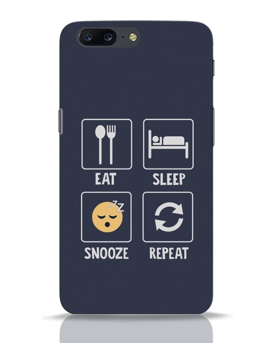 Shop Snooze Repeat OnePlus 5 Mobile Cover-Front