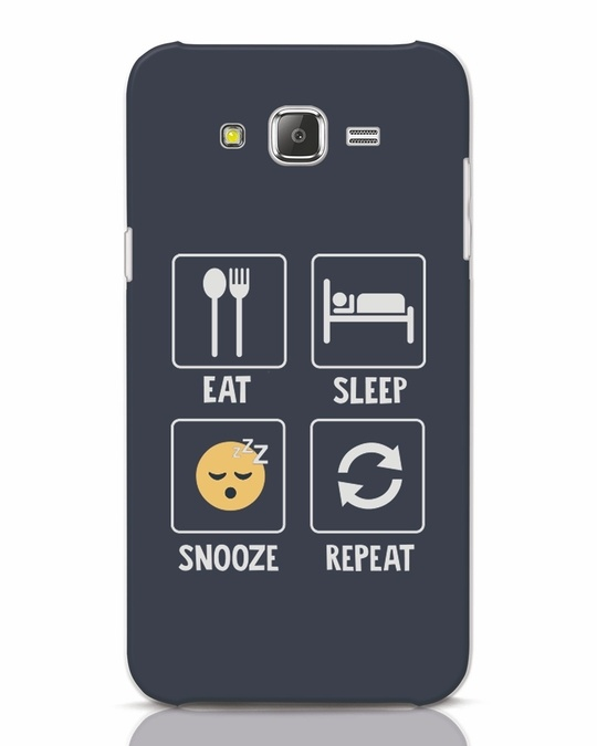 Shop Snooze Repeat Samsung Galaxy J7 Mobile Cover-Front