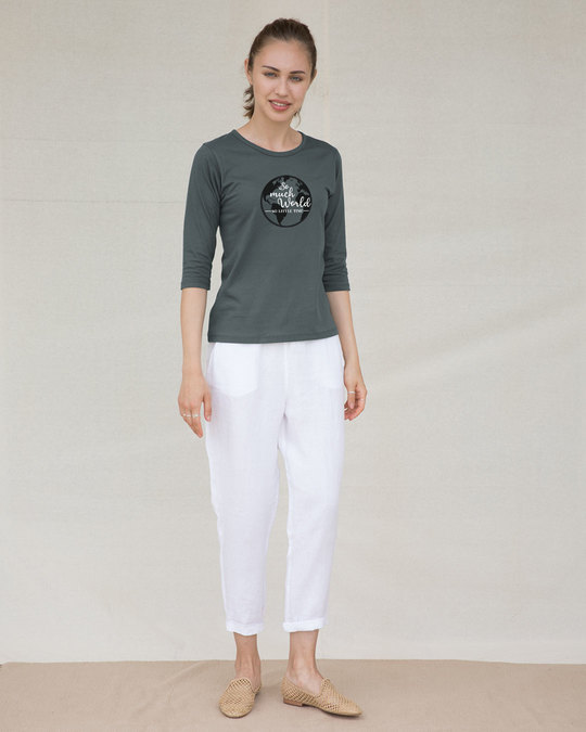 Shop So Much Time Round Neck 3/4th Sleeve T-Shirt-Full