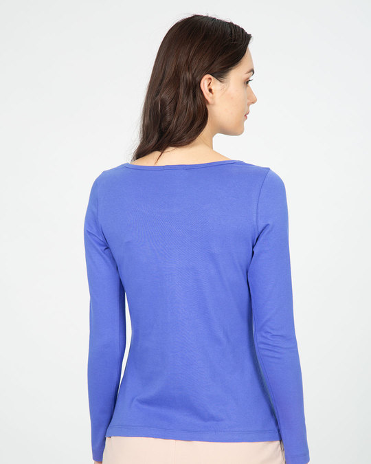 Shop So Much Time Scoop Neck Full Sleeve T-Shirt-Back