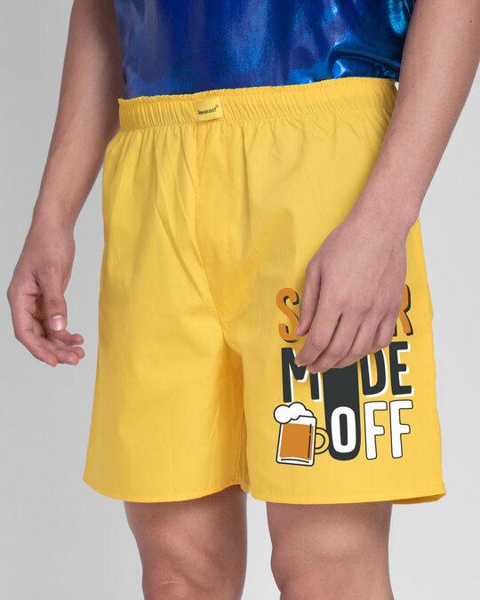 Shop Sober Mode Side Printed Boxer-Back