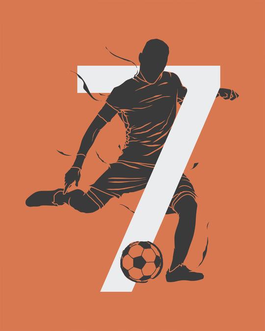 Shop Soccer 7 Half Sleeve T-Shirt