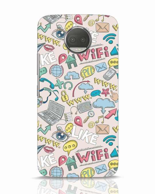 Shop Social Doodle Moto G5s Plus Mobile Cover-Front