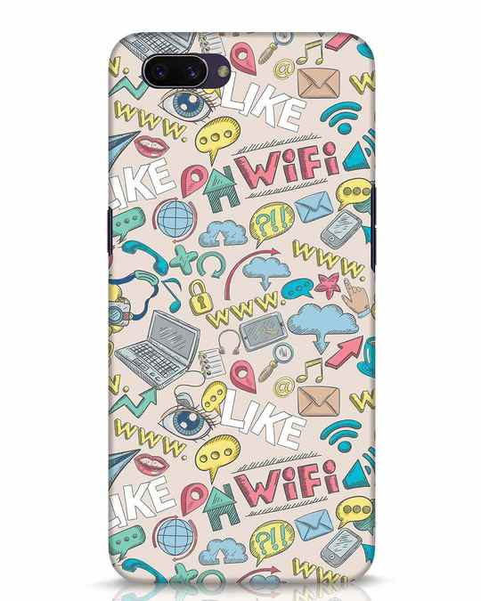 Shop Social Doodle Oppo A3S Mobile Cover-Front