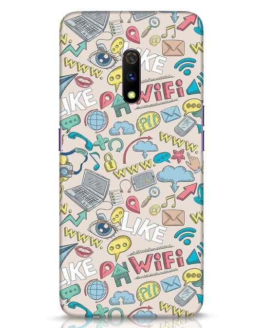 Shop Social Doodle Realme X Mobile Cover-Front