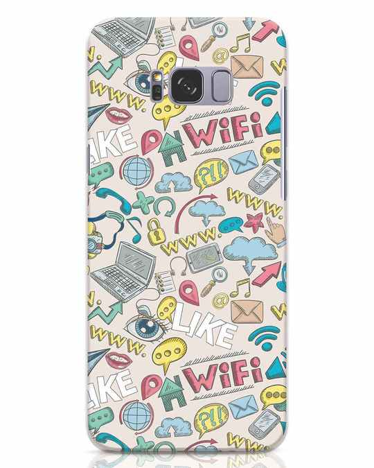 Shop Social Doodle Samsung Galaxy S8 Plus Mobile Cover-Front