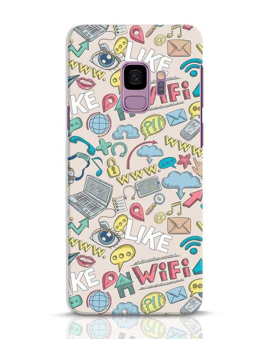 Shop Social Doodle Samsung Galaxy S9 Mobile Cover-Front