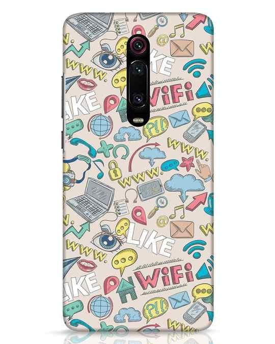 Shop Social Doodle Xiaomi Redmi K20 Pro Mobile Cover-Front