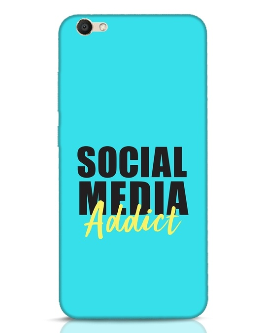 Shop Social Media Addict Vivo V5 Mobile Cover-Front