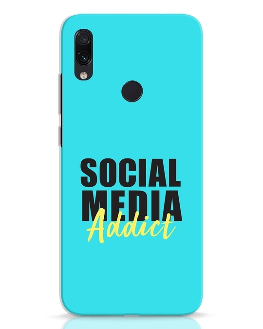 Shop Social Media Addict Xiaomi Redmi Note 7 Mobile Cover-Front