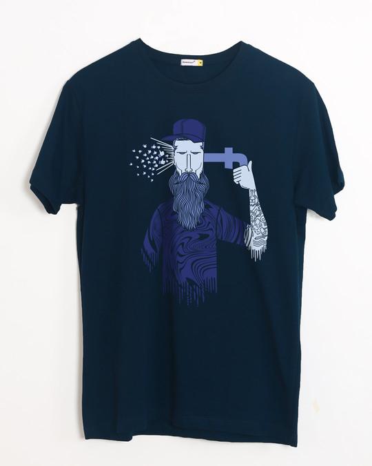 Shop Social Media Bang Half Sleeve T-Shirt-Front