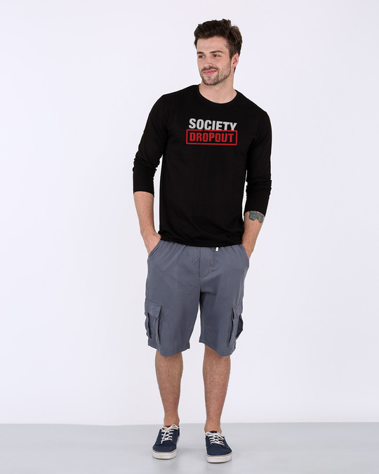 Shop Society Dropout Full Sleeve T-Shirt-Design
