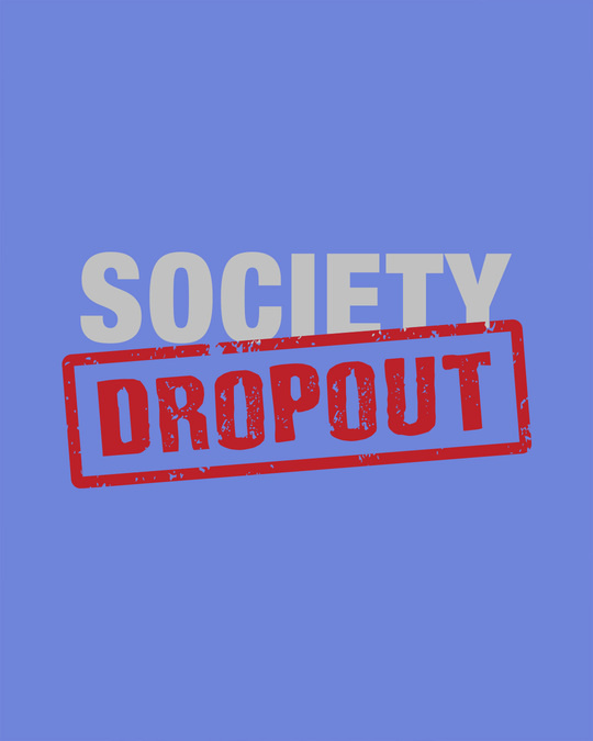 Shop Society Dropout Half Sleeve T-Shirt