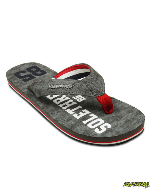 Shop Solethread 85 Grey Men's Flip-Flop-Front