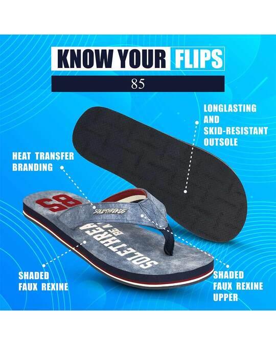 Shop Solethread 85 Navy Men's Flip-Flop-Full