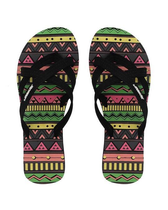 Shop Solethread Aztec Black Women's Flip-Flop
