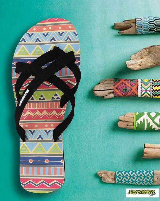 Shop Solethread Aztec Cream Women's Flip-Flop-Full