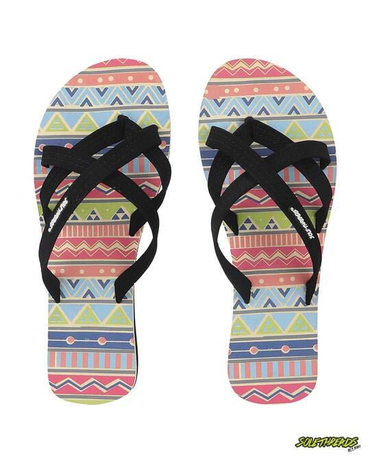 Shop Solethread Aztec Cream Women's Flip-Flop