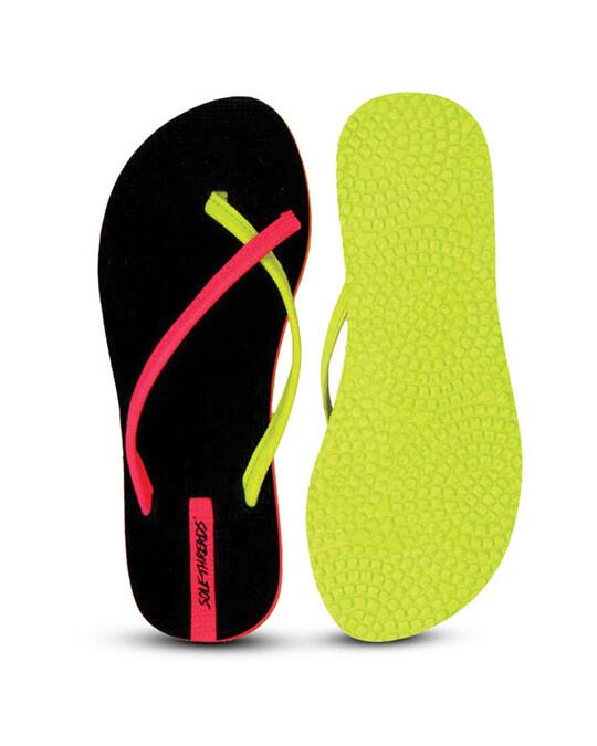 Shop Antonia   Black/Pink Flip Flops For Women-Back