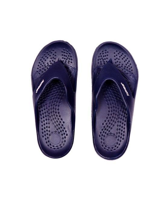 Shop Creator   Navy/Grey Flip Flops For Men-Front