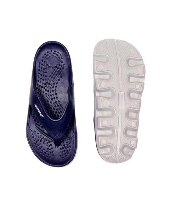 Shop Creator   Navy/Grey Flip Flops For Men-Full