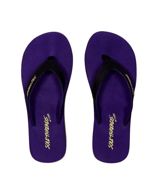 Shop St Basic   Purple/Lime Flip Flops For Women-Front